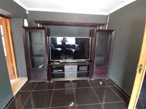 Dark wooden wall unit for sale
