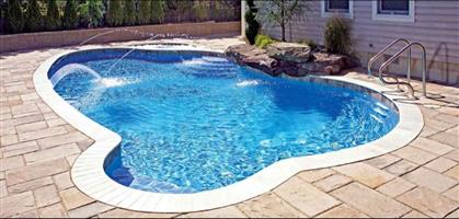 3mx3 fiberglass and marbelite pools