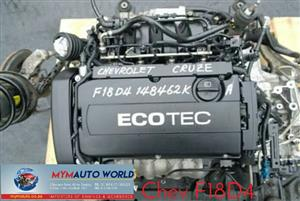 Complete Second hand used engines,  CHEV CRUZ 1.8L, CHEV F18D4