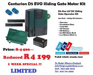 CENTURION D5 EVO SLIDING GATE MOTOR KIT (P.E.)