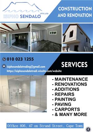 Construction Maintenance, and many more. Don't hesitate to Call! Get your free quote Today!