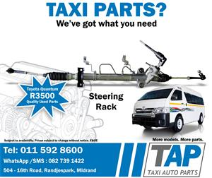 Toyota Quantum STEERING RACK - Taxi Auto Parts for quality used taxi spares  -  TAP