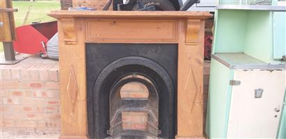 Antique fireplace with mantel piece