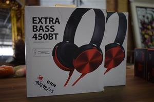 Red xtra bass headphones