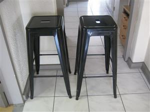 2 X Steel stools