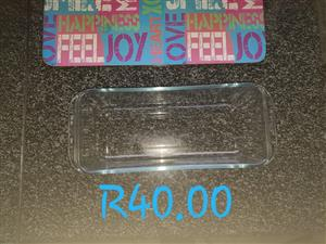 Glass bread dish for sale