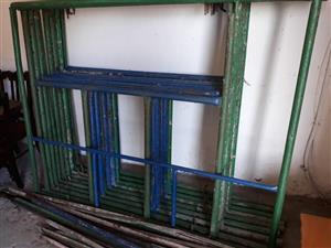 Blue and green steel frames for sale