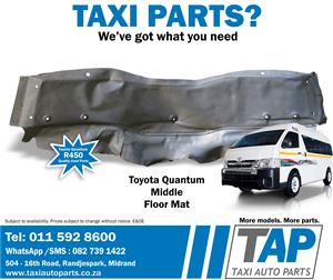 Toyota Quantum Middle FLOOR MAT quality used taxi spares - Taxi Auto Parts TAP