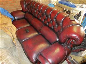 Red blood luxury leather set