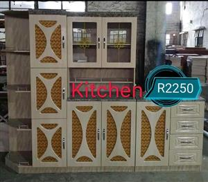 Orange and white kitchen unit for sale