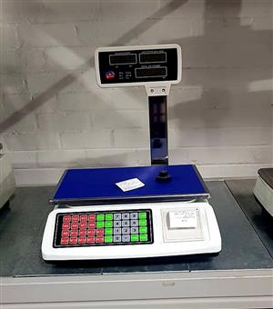 SCALES FOR SALE – DIGITAL MEAT SCALE – BUTCHERS SCALE WITH PRINTER – MEAT WEIGHT SCALE
