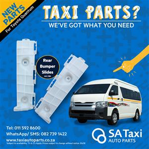NEW Rear Bumper Slide suitable for Toyota Quantum - SA Taxi Auto Parts quality spares