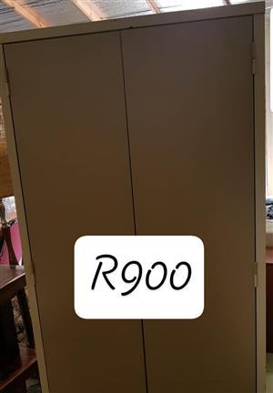 Beige and light brown steel cupboard