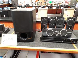 JVC 5.1 channel home theatre system.