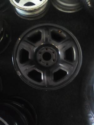 """17"""" Nissan Navara steel rim for R750.00."""