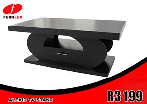 TV STAND ALEXIO  FOR ONLY R3 199 BRAND NEW!!!!