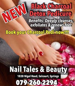 Black Charcoal Detox Pedicure