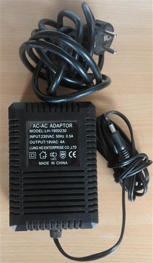 Ac to AC Adaptor 4amp 21Volts nominal power.