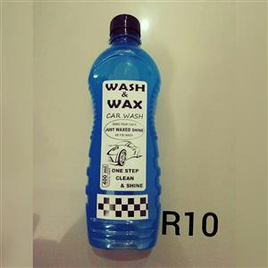 wash and wax, engine cleaner, grease and tire shine