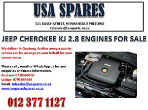JEEP CHEROKEE KJ 2.8 ENGINES AND ENGINE PARTS