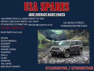 JEEP PATRIOT BODY PARTS FOR SALE- CALL NOW