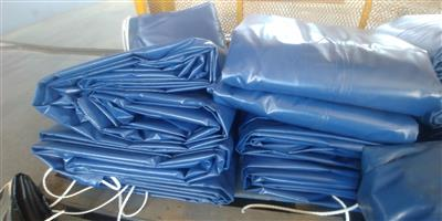 9m x 9m heavy duty pvc truck covers/tarpaulins and cargo nets for super-link and tri_axle readily available