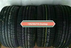 195/50/15 Dunlop New Tyres for sale