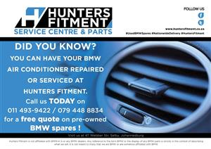 BMW Air Conditioner repairs and services at Hunters Fitment