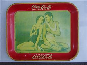1934 Coca-Cola TARZAN Serving Tray ORIGINAL COKE J. Weissmuller & M. O'Sullivan