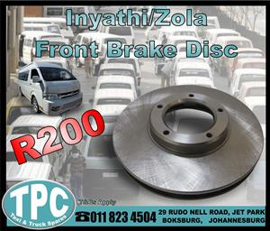 Inyathi/Zola Front Brake Disc - New - New And Used Quality Replacement Taxi Spare Parts - TPC.