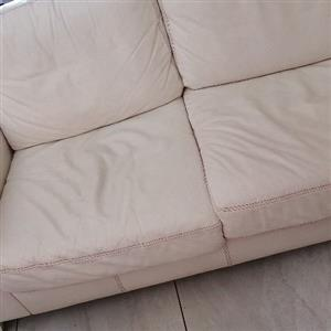 Leather L-shaped couch