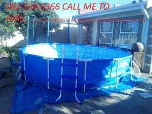 Swimming pool,trampoline and Attificial lawn to hire