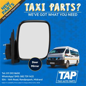 NEW Door Mirror for Nissan Impendulo - Taxi Auto Parts - TAP