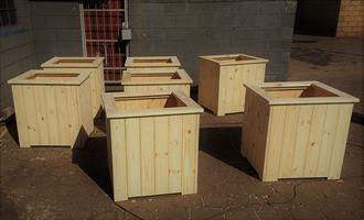 Planter Box Blair Atholl series 750 square Raw