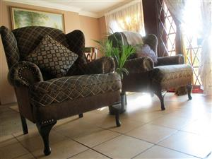 Two Wingback Chairs for Sale