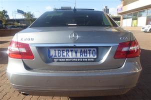 2011 Mercedes Benz E-Class sedan E 200 AVANTGARDE