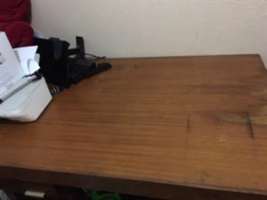 Large desk - brown - 2 drawers