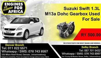 Suzuki Swift 1.3L M13a Dohc Gearbox Used For Sale
