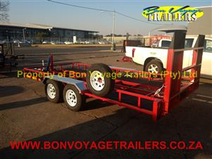 DOUBLE CUSTOM CAR TRAILERS FOR SALE