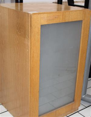 1 door cabinet with glass shelf S031785B #Rosettenvillepawnshop