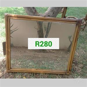 Large cane framed mirror for sale