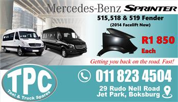 Mercedes Sprinter 515/8/9 Fender -  Facelift 2014 - New - Quality Replacement Taxi Spare Parts.