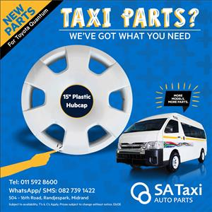 "New 15"" plastic Hubcap suitable for Toyota Quantum -SA Taxi Auto Parts"