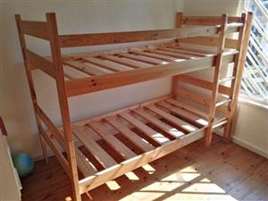 Child's or adults Pine Bunk Beds for sale