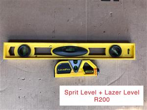 Spirit and laser level
