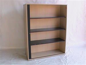 Maple roller door Cabinet. Great condition