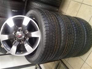 ISUZU BAKKE/SUV 18'' OEM ORIGINAL SET OF MAGS WITH SET OF NEW TYRES 255/60/18 SET COMBO R9999