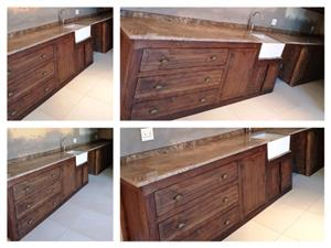 Kitchen Cupboard Scullery unit Farmhouse series 4900 Stained
