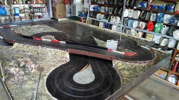 Slotcar track, cars, & assesories