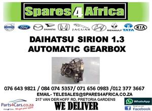 DAIHATSU SIRION 1.3 USED AUTOMATIC GEARBOX FOR SALE